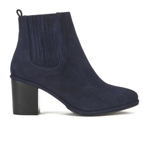 Opening Ceremony Brenda Navy Blue Suede Booties